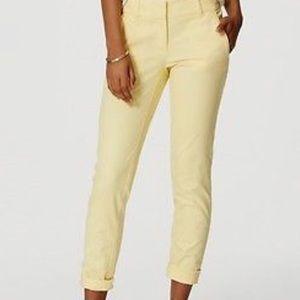 Loft Marisa Cropped pant size 8 yellow casual pant